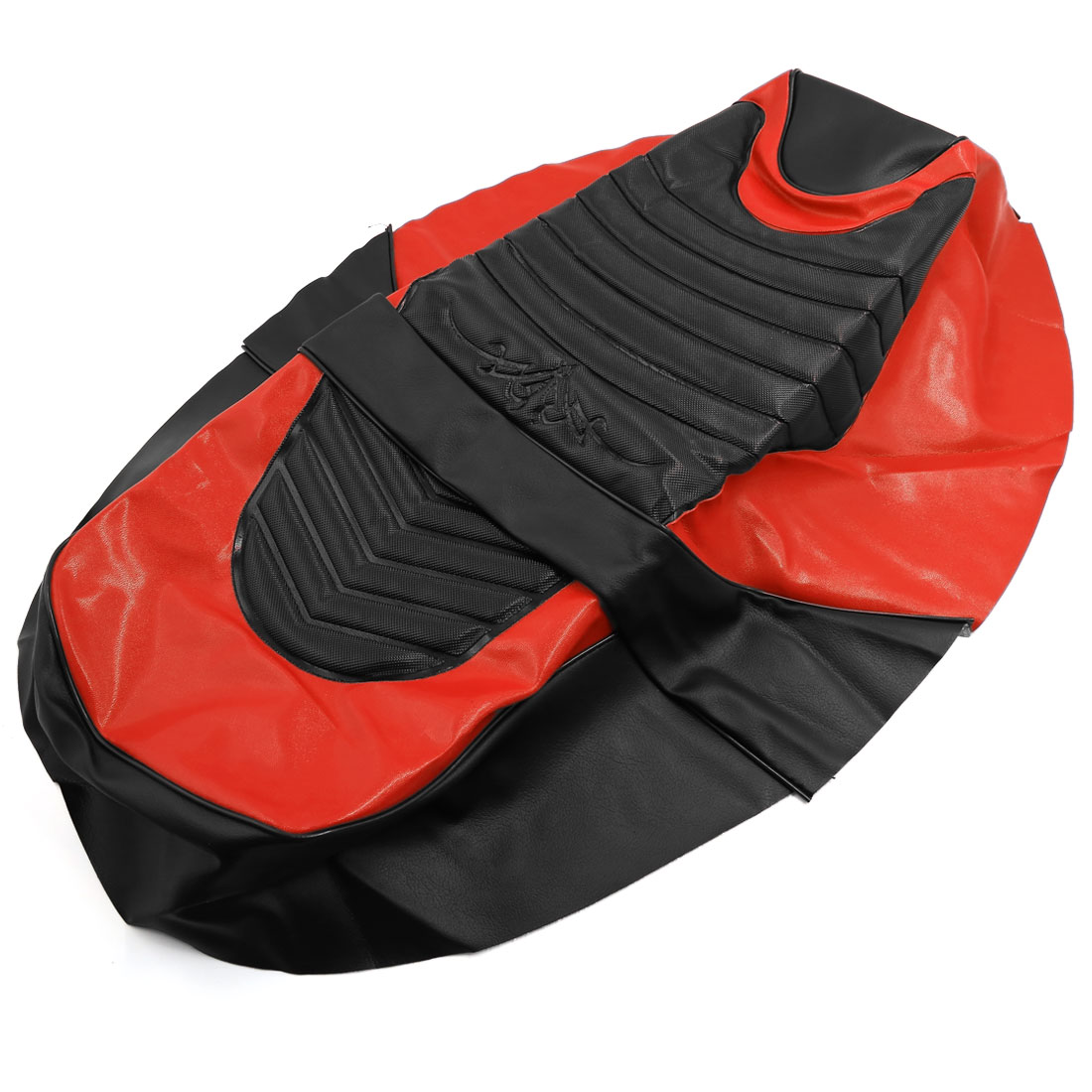 Woman Motorcycle Waterproof Faux Leather Saddle Seat Cover Black Red for Yamaha