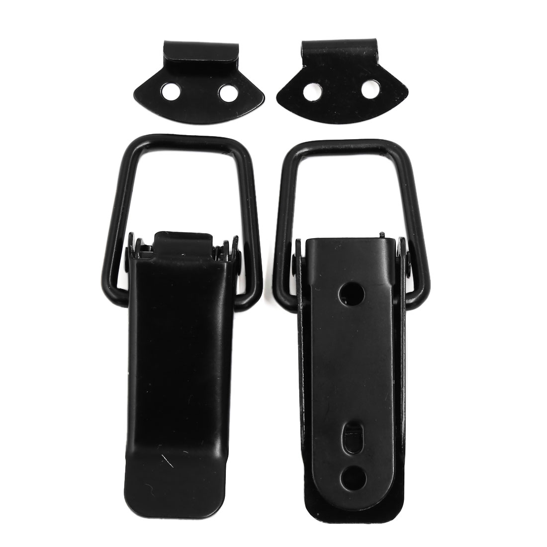 2 Pcs Black Case Box Chest Spring Loaded Stainless Steel Draw Lock Toggle Latch