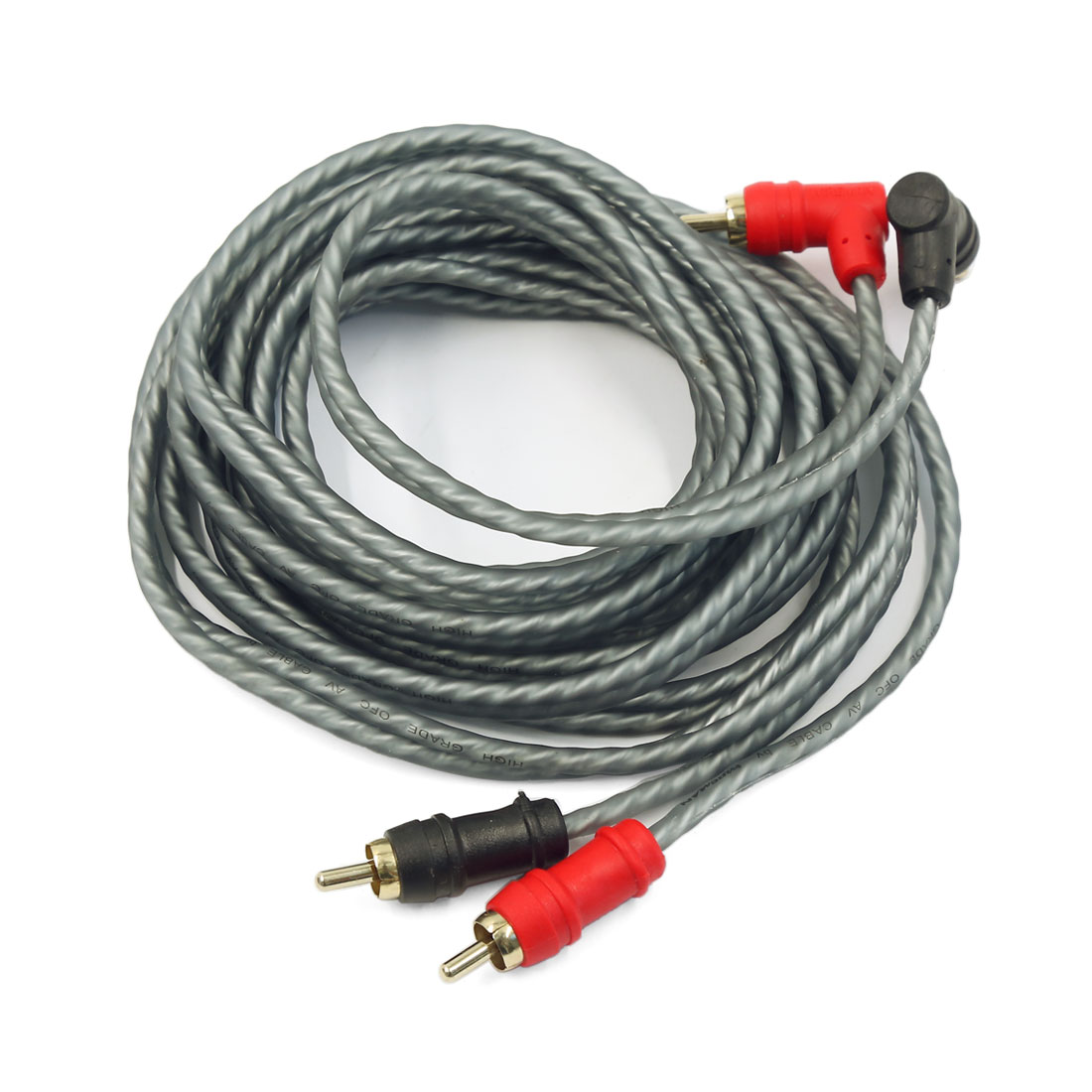 2RCA-2RCA Male to Male Cable Cord for Car Audio System Home Theater 3 Meters Gray