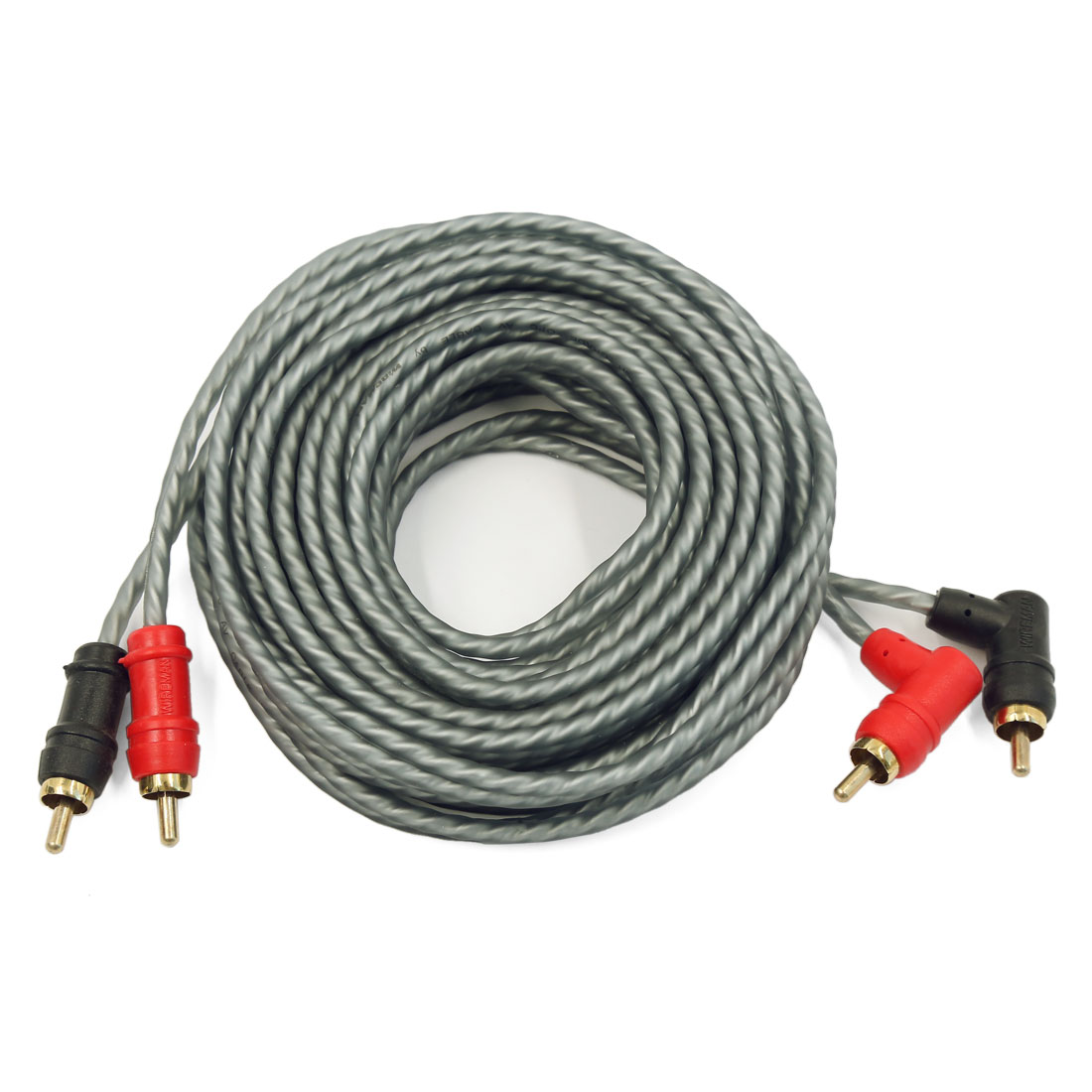 2RCA-2RCA Audio Cable Cord for Car Amplifier System Home Theater Gray 5M