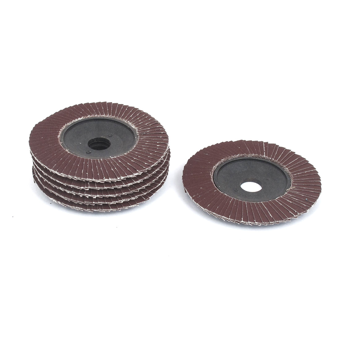 "6pcs 100mm 4"" Dia 19mm Bore 240 Grit Flap Sanding Discs Polishing Buffing Wheels"