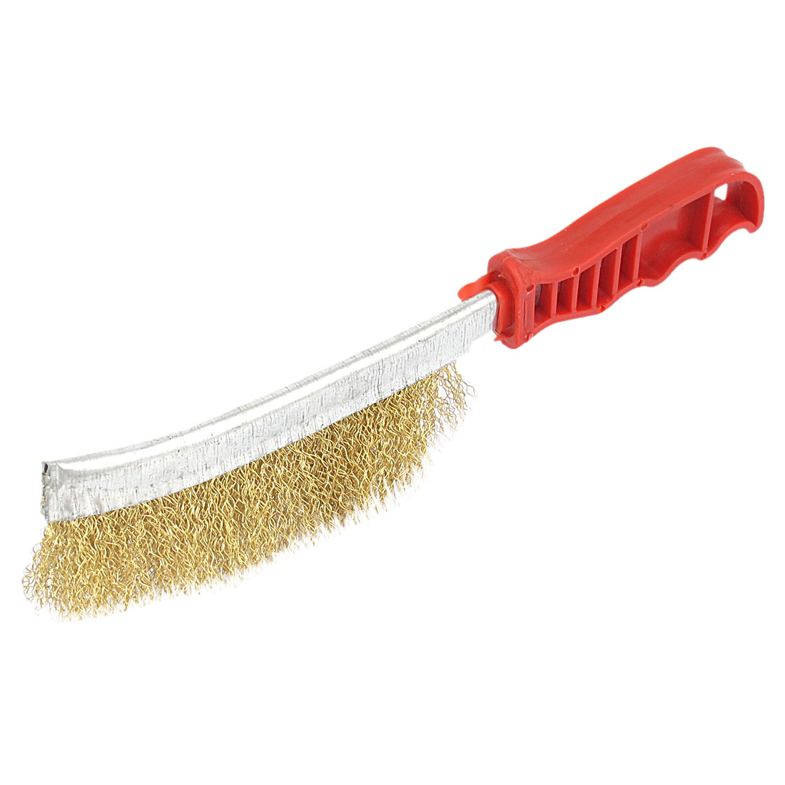 Household Red Plastic Handle Steel Wire Scratch Brush Handy Tool