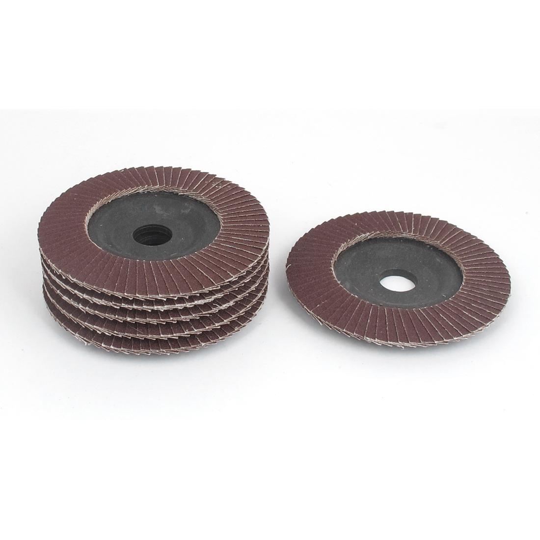 6 Pcs 100mm Dia Sanding Flap Disc Grinding Wheel 120 Grit for Angle Grinder