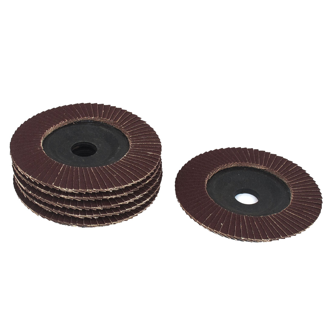 "6pcs 100mm 4"" Dia 18mm Bore 180 Grit Flap Sanding Discs Polishing Buffing Wheels"