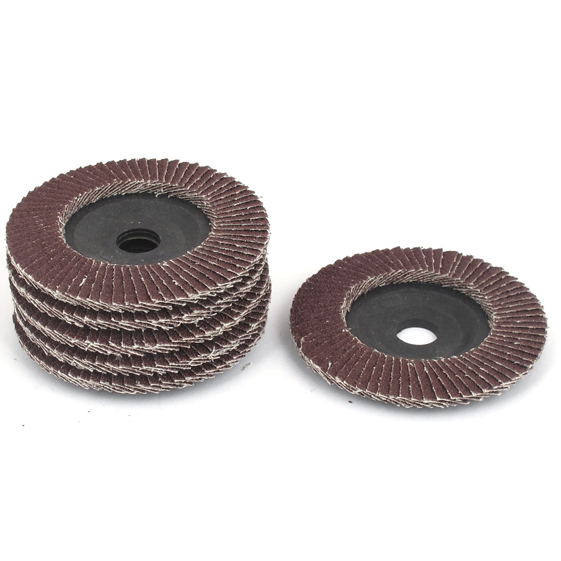 16mm x 100mm 60 Grip Fan Type Abrasive Flap Sanding Discs Buffing Wheels 6 Pcs
