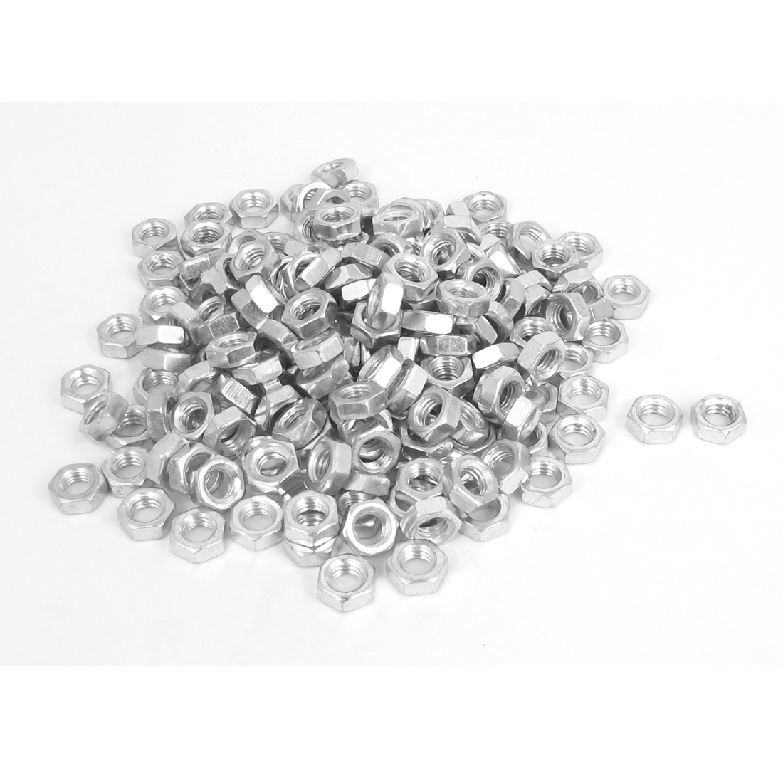 200 Pcs M5 Metal Machine Screw Hex Hexagon Nut DIN934