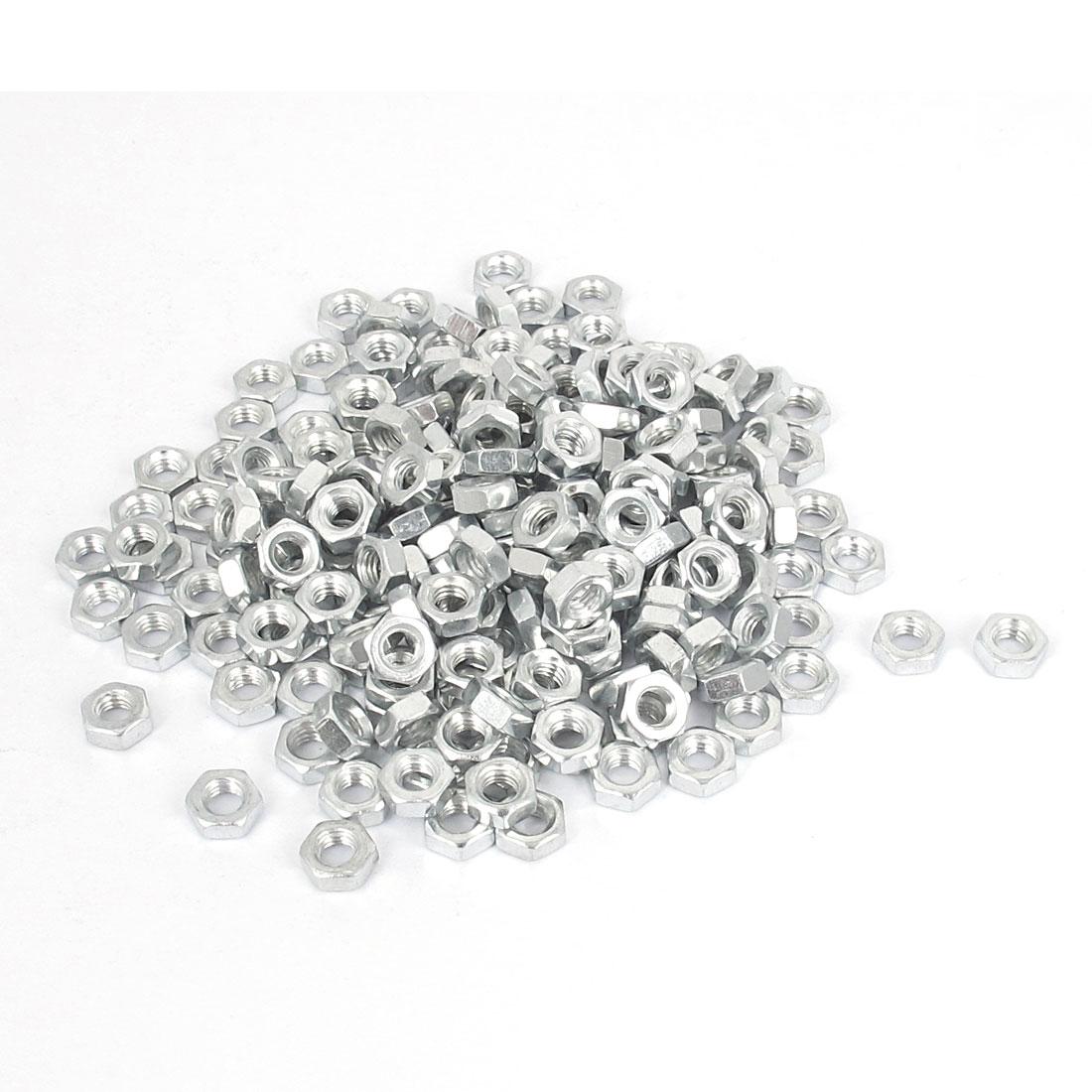 200 Pcs M4 Metal Machine Screw Hex Hexagon Nut DIN 934