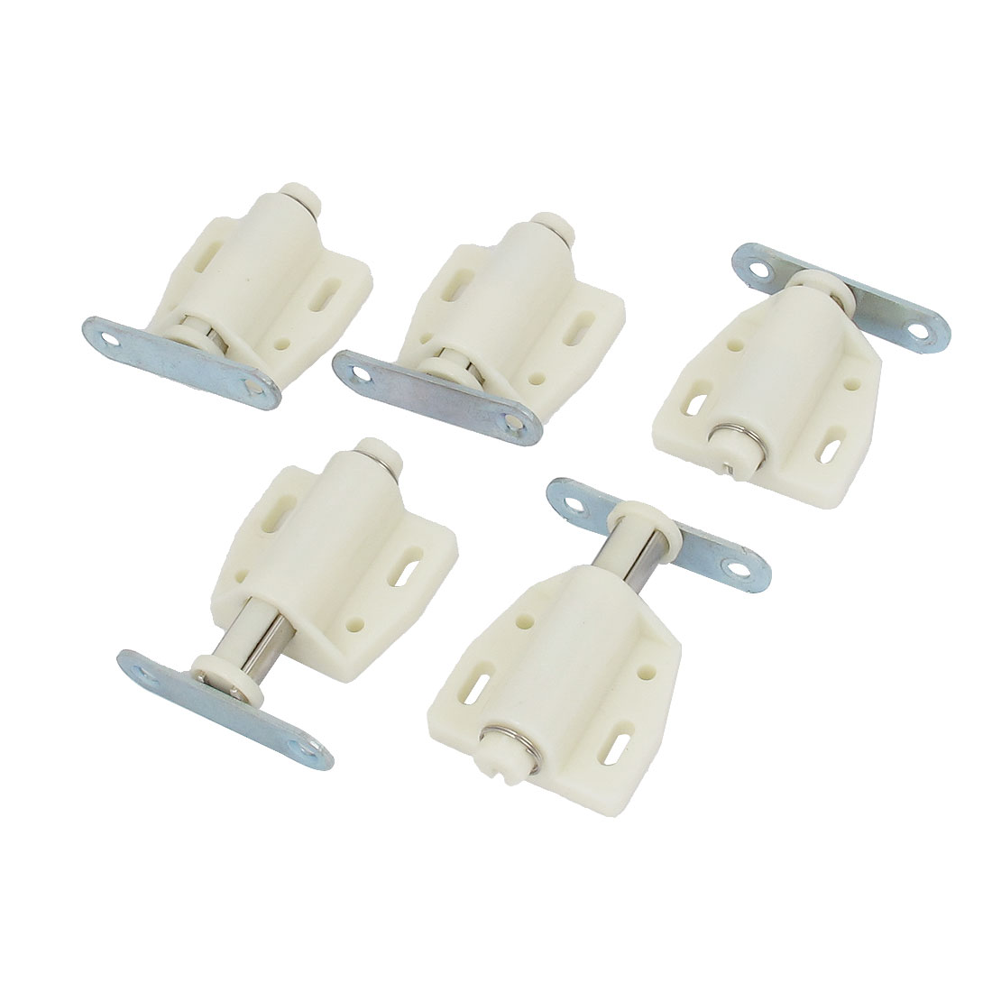 Cabinet Furniture Door Magnetic Push Open Catch Latch White 5 Pcs