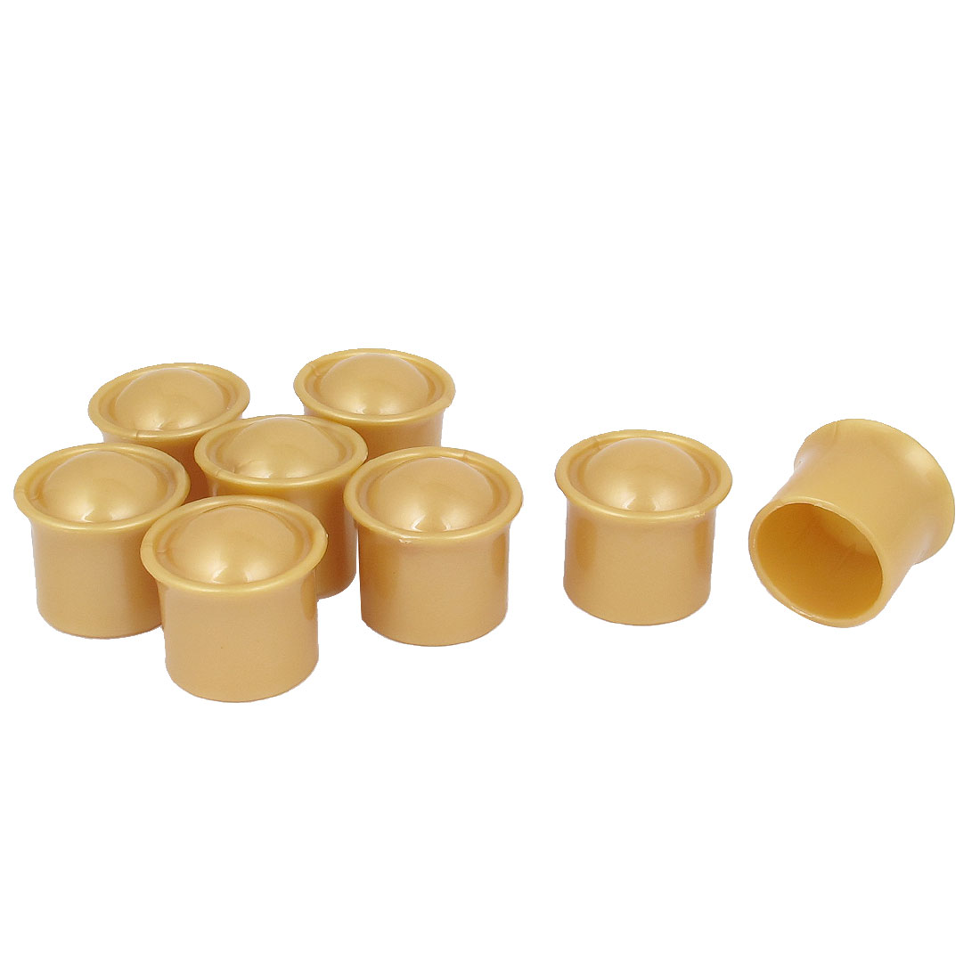 8 Pcs Gold Tone Plastic Drapery Curtain Rod Ends Caps for 28mm Poles