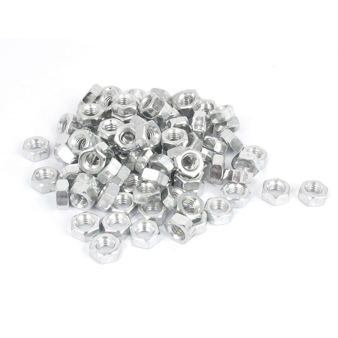 100 Pcs M6 Metal Machine Screw Hex Hexagon Nut DIN 934