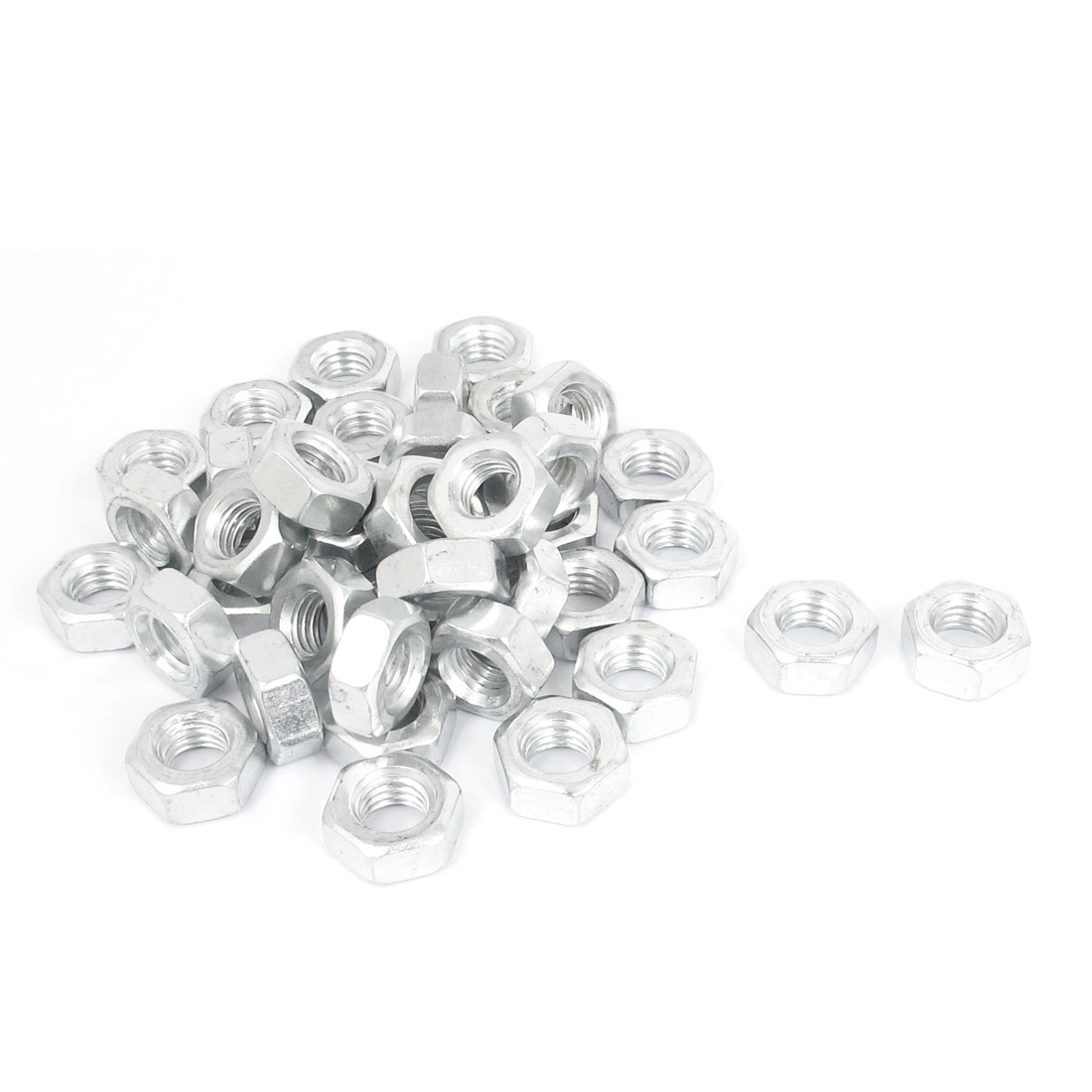 40 Pcs M10 Metal Machine Screw Hex Hexagon Nut DIN934
