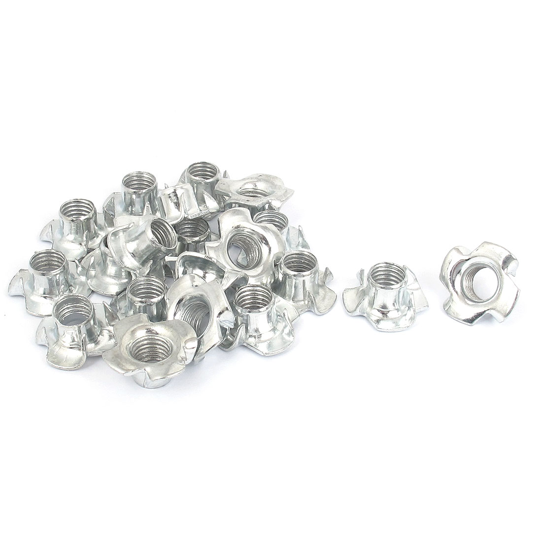 20 Pcs M10x1.5mm T Nut Zinc Plated 4 Prong Tee Nuts Fasteners