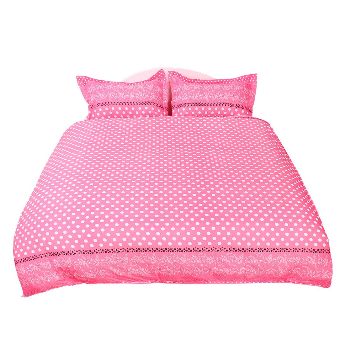 Dots Pattern Duvet Cover Pillowcase Quilt Cover Bedding Set Double Size