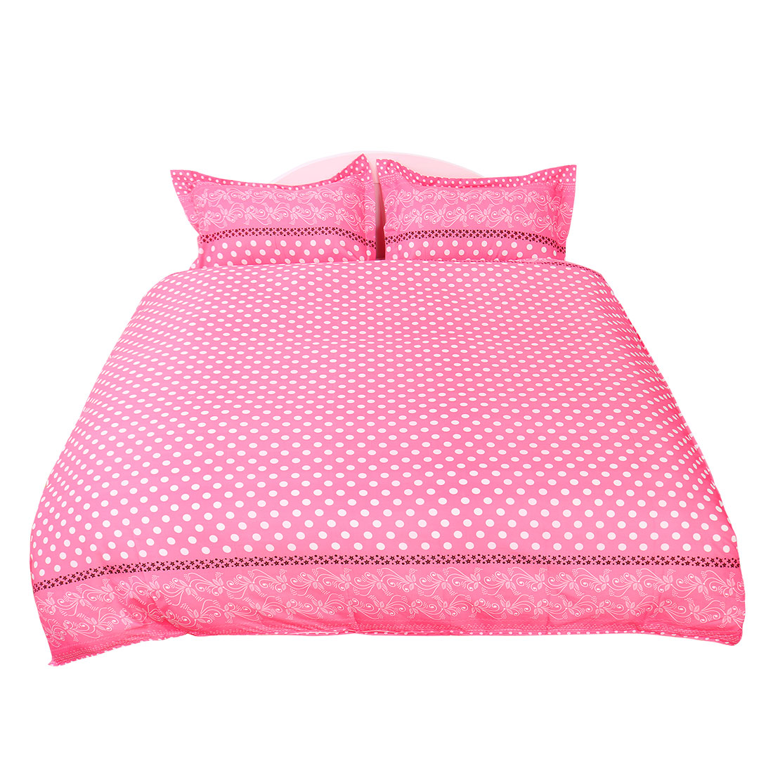 Dots Pattern Duvet Cover Pillowcase Quilt Cover Bedding Set King Size