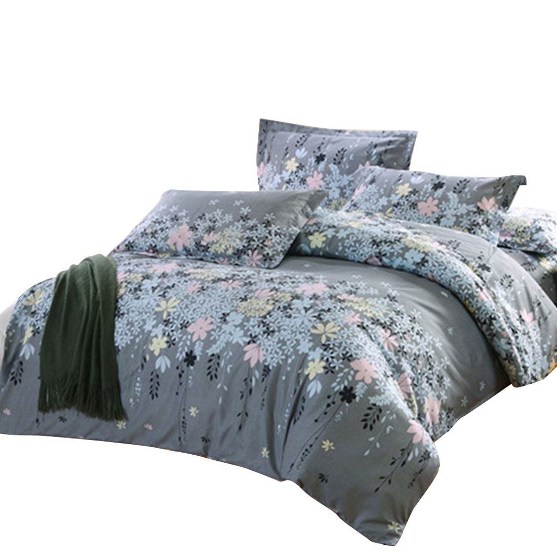 Floral Vine Pattern Duvet Cover Pillowcase Quilt Cover Bedding Set Double Size