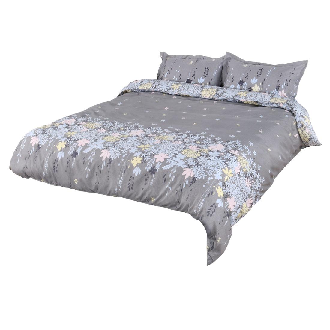 Floral Vine Pattern Duvet Cover Pillowcase Quilt Cover Bedding Set King Size