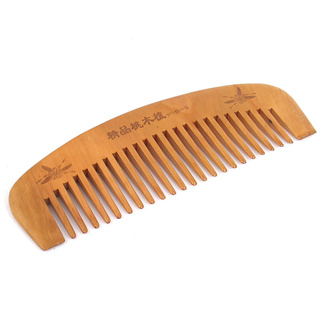 "5.8"" Length Wooden Color Healthy Hair Care Toothed Portable Natural Antistatic lightweight Peach Comb for Ladies Gentlemen"