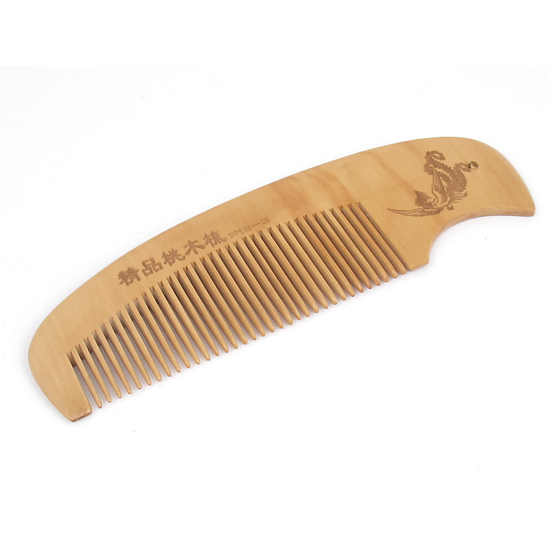 "6.7"" Length Healthy Hair Care Toothed Portable Natural Antistatic lightweight Handle Peach Wooden Comb for Ladies Gentlemen"