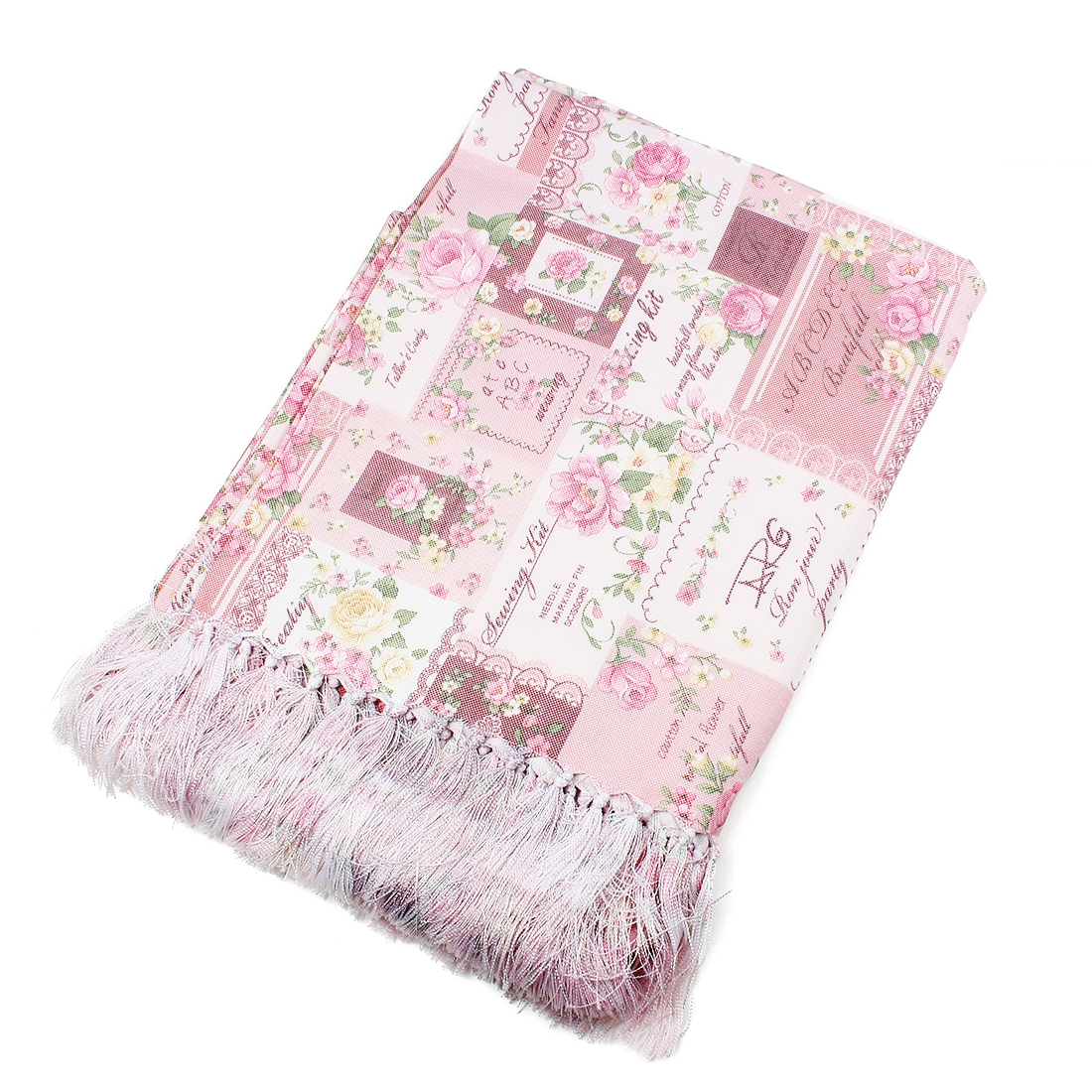 Floral Pattern Rectangle Tablecloth 135 x 220cm Pink
