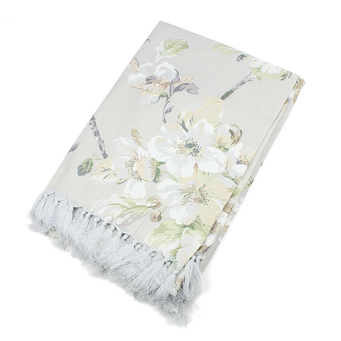 Wipe Clean Floral Pattern Rectangle Tablecloth 135 x 220cm Beige