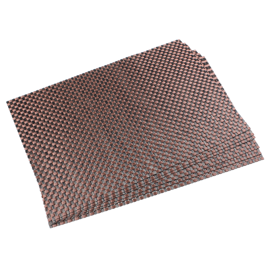PVC Heat Resistant Table Cup Mat Placemat Coaster 6pcs Brown