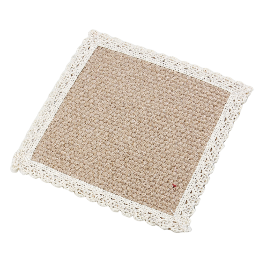 Cotton Heat Resistant Cup Mat Placemat Beige Light Brown 15 x 15cm