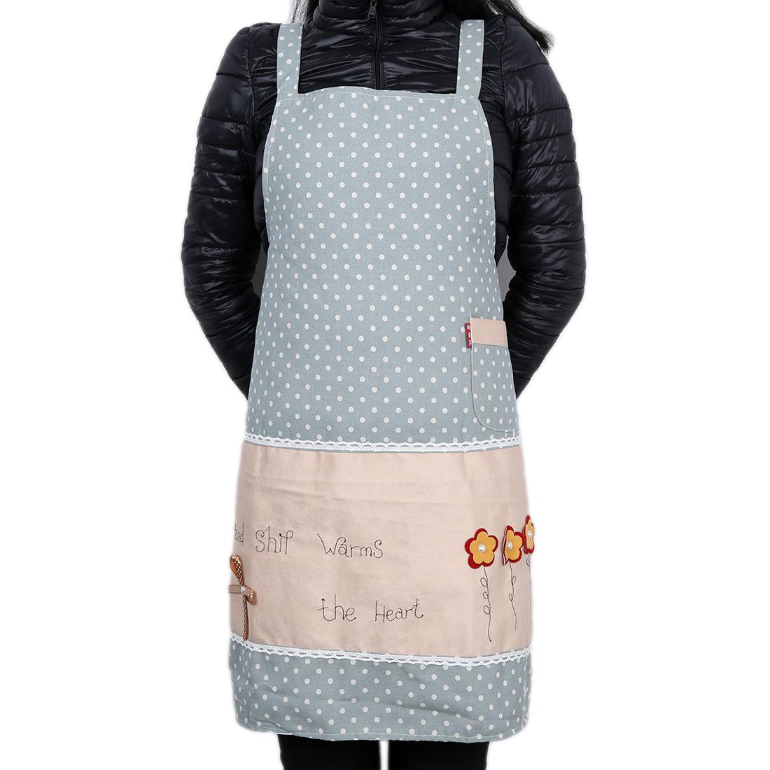 Polka Dot Lady Chefs Butchers Apron Kitchen Bib Cooking Craft