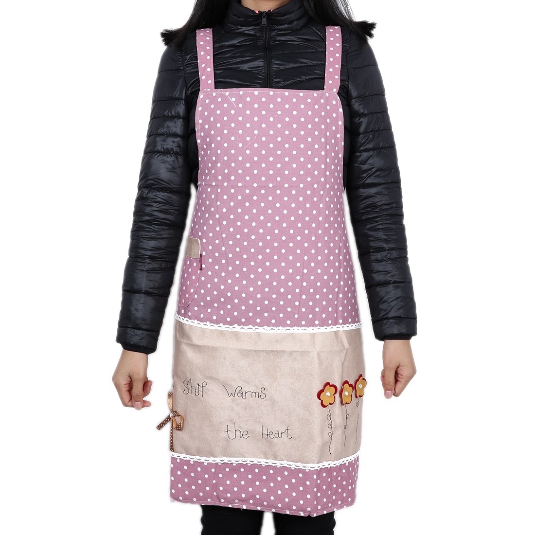 English Letter Dot Kitchen Bib Cooking Craft Baking Apron