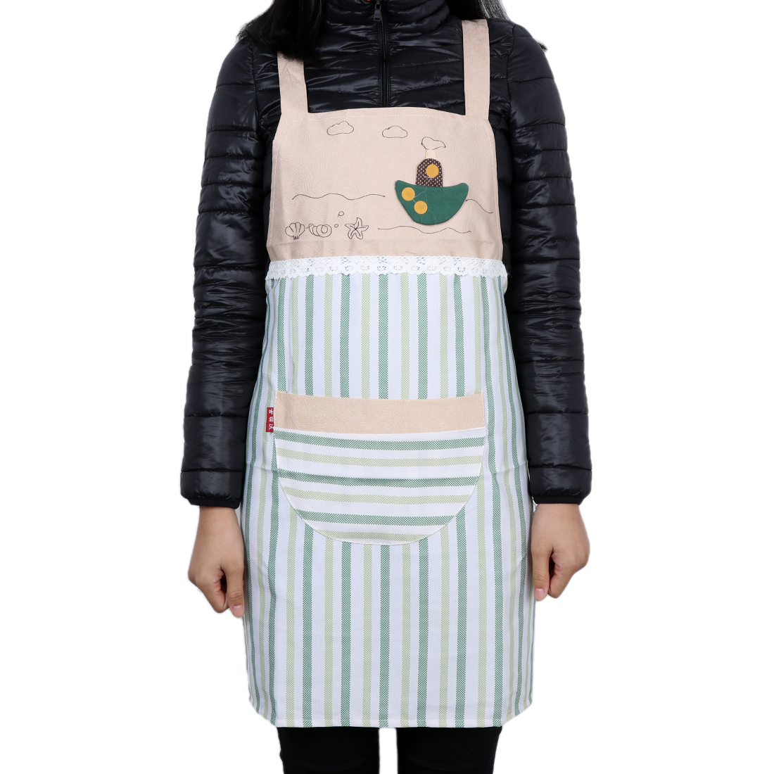 Stripes Style Lady Chefs Butchers Apron with Pocket Gift