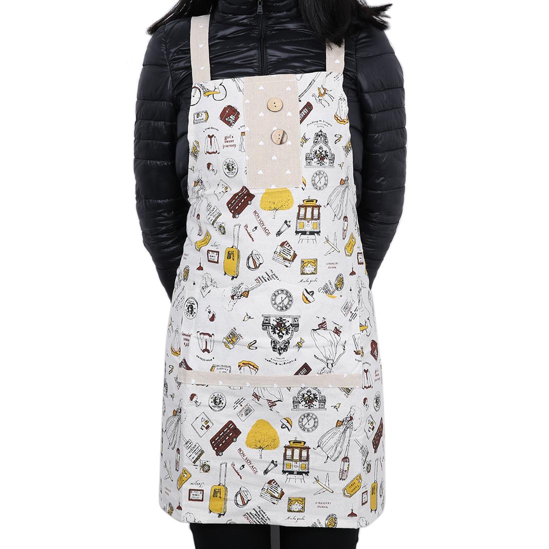 Ladies Woman Kitchen Bib Cooking Catering Apron Dress Apron