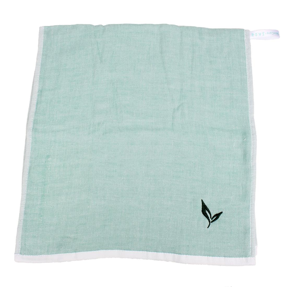 Green Tea Flavor Character Rectangular Washing Facecloth Towel Green