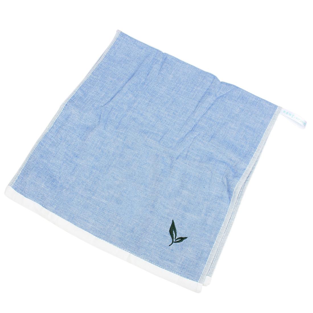 Green Tea Flavor Facecloth Towel 35 x 74cm Sky Blue