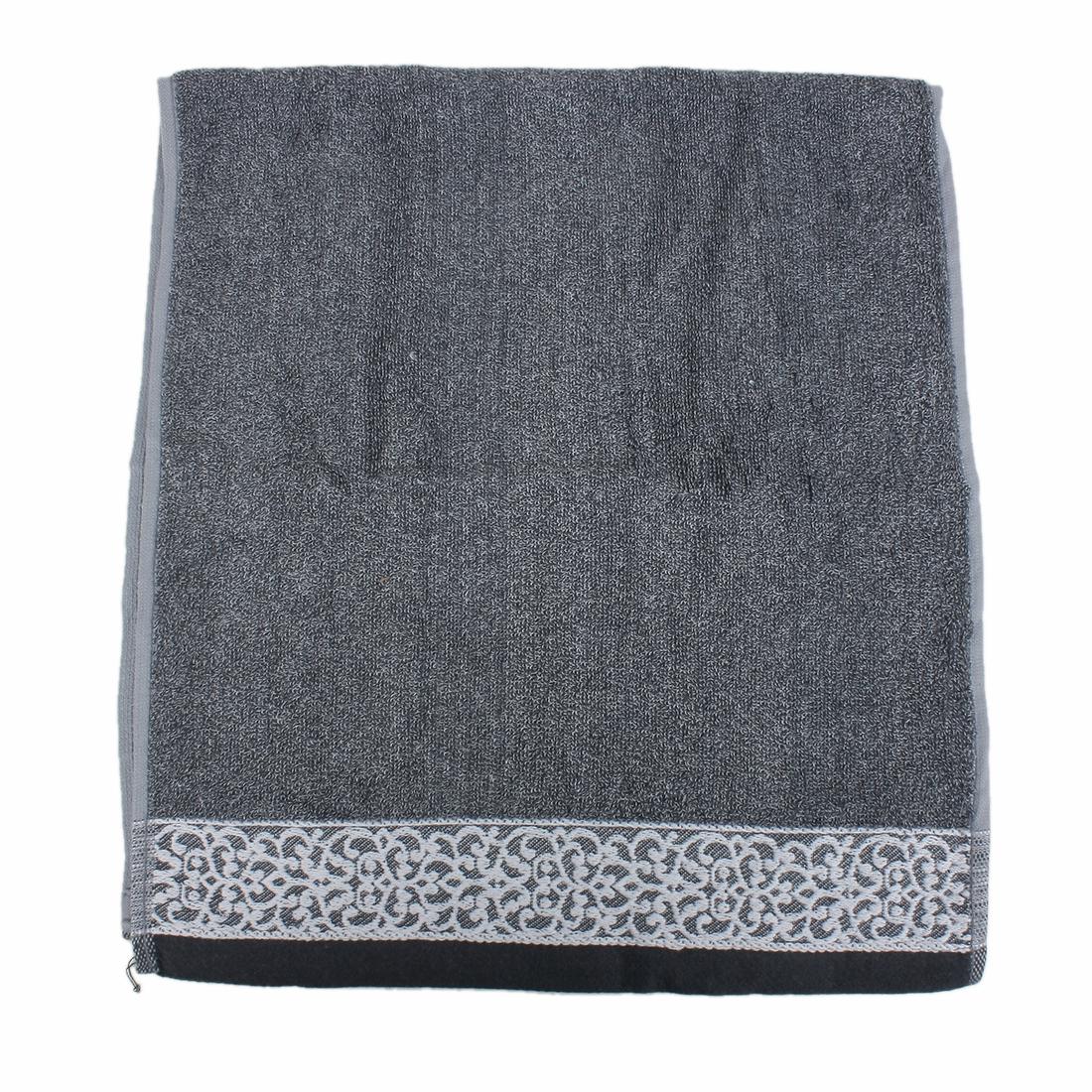Home Bathroom Super Soft Combed Cotton Towel 35 x 74cm Navy Blue