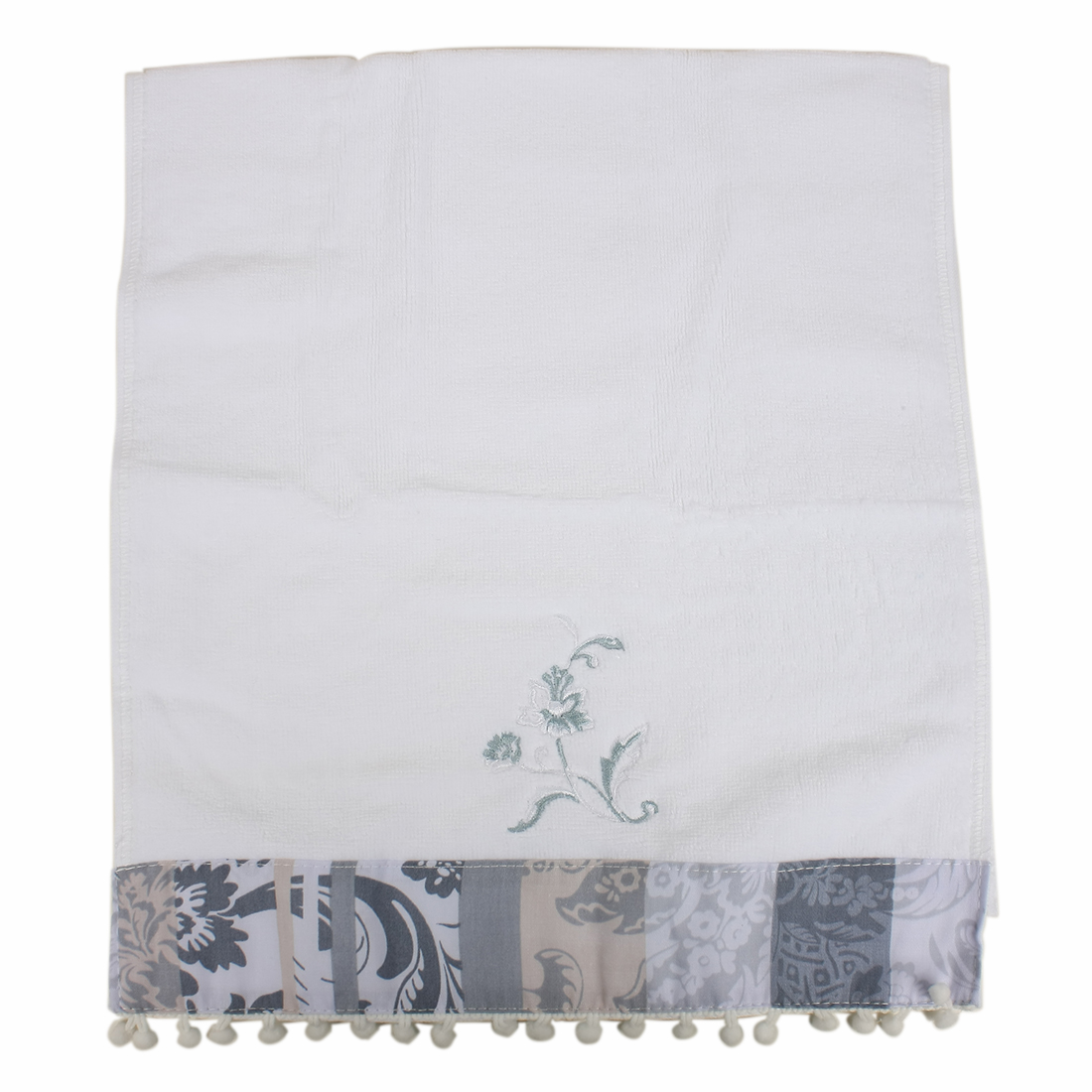 Floral Pattern Rectangle Soft Combed Cotton Towel Bath Towel