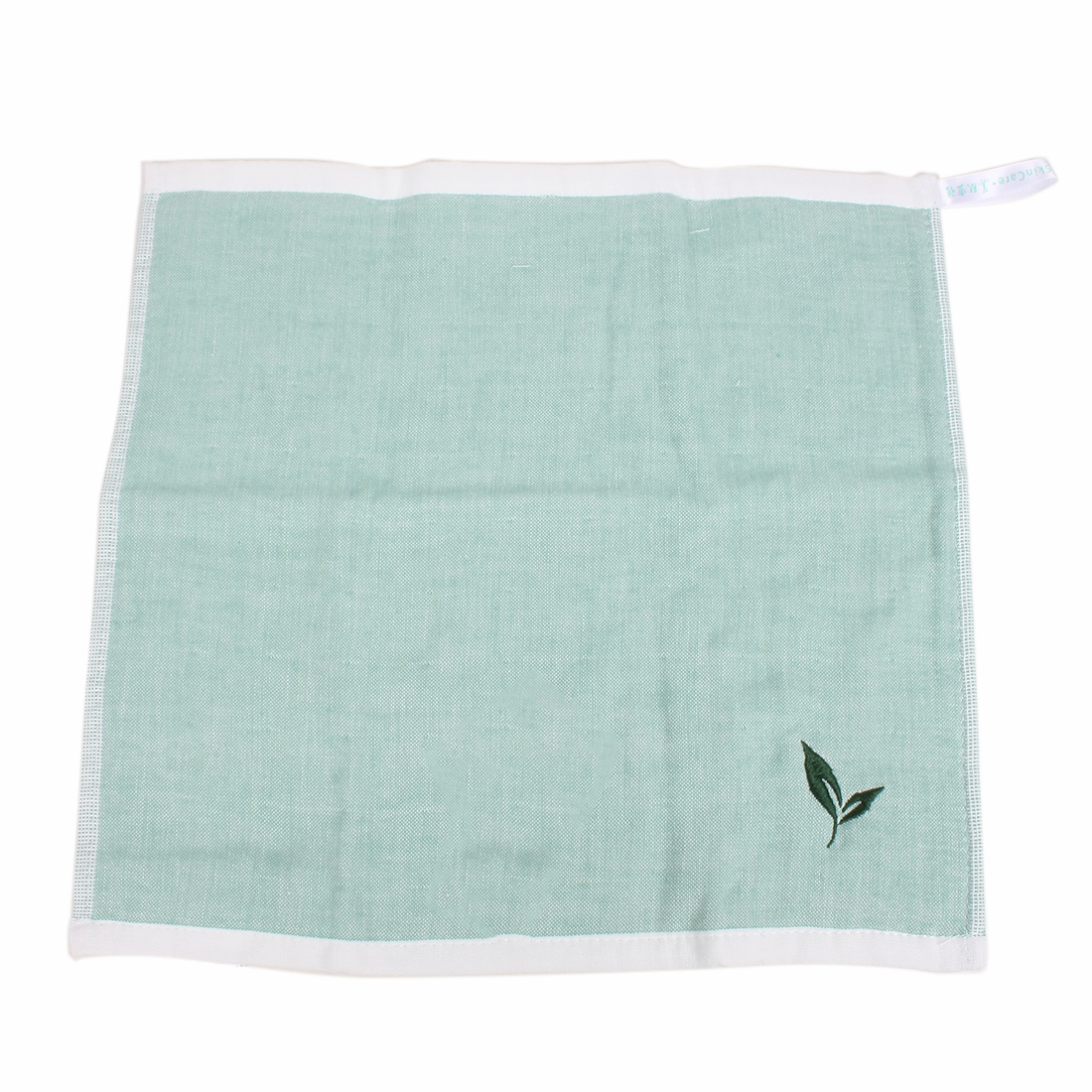 Green Tea Flavor Character Pattern Rectangular Facecloth Towel Green