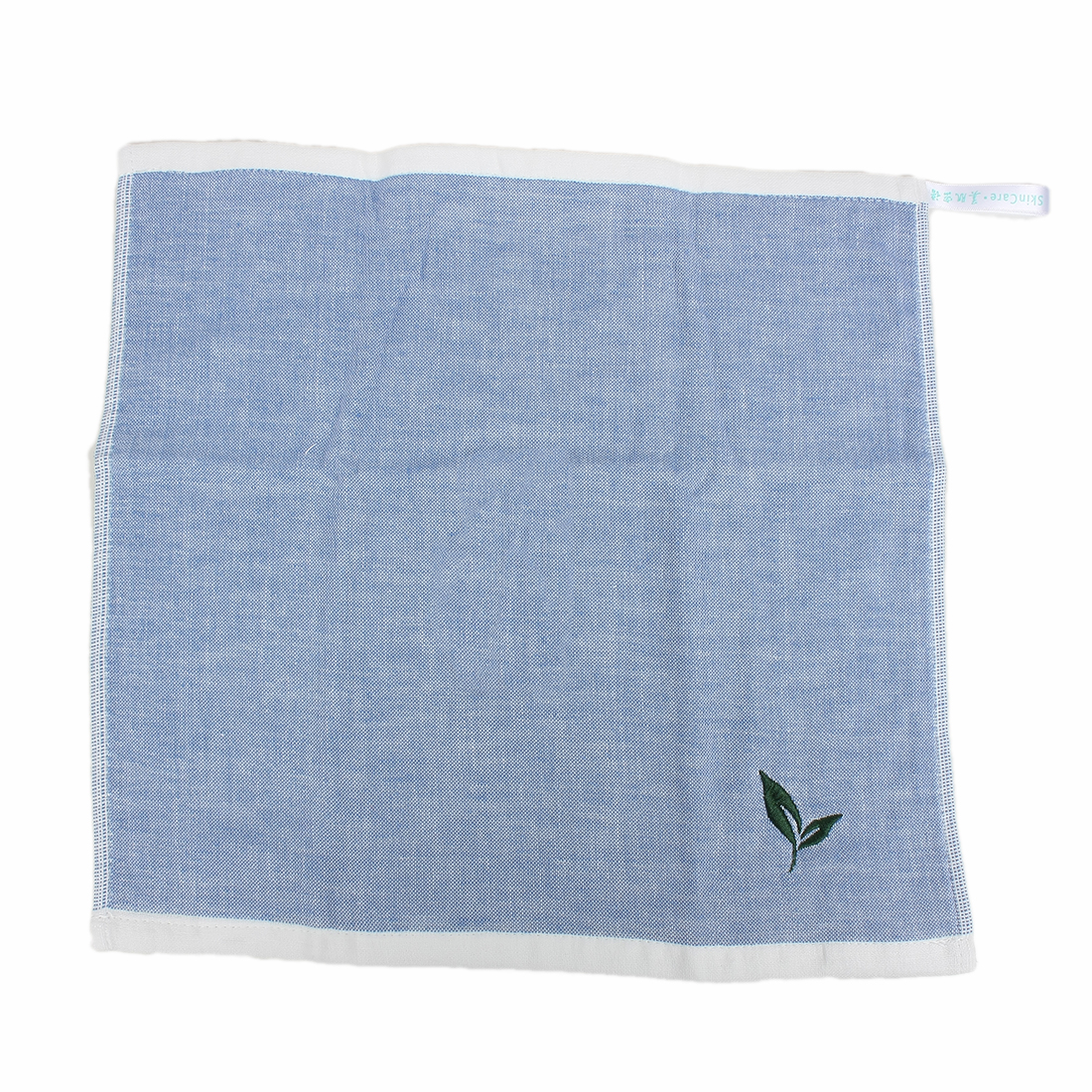 Green Tea Flavor Rectangular Facecloth Towel Sky Blue