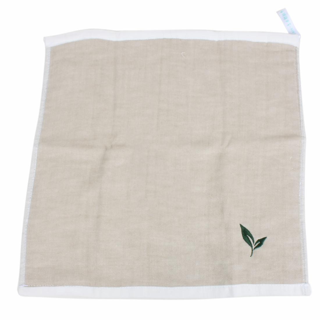 Green Tea Flavor Character Pattern Rectangular Towel 35 x 35cm Beige