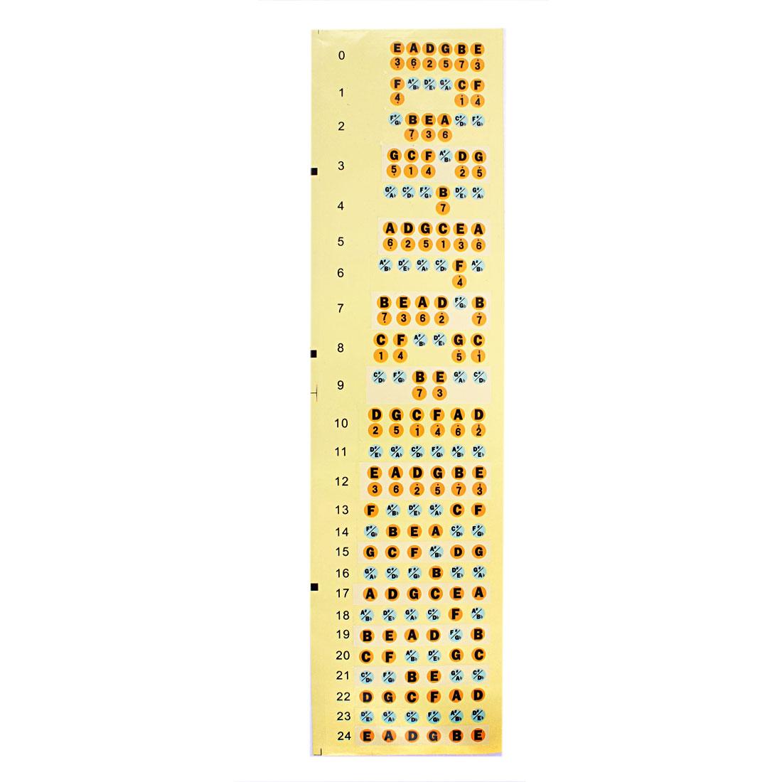Guitar Learner Practice Fret Fretboard Note Decal Frets Map Sticker Teach Label