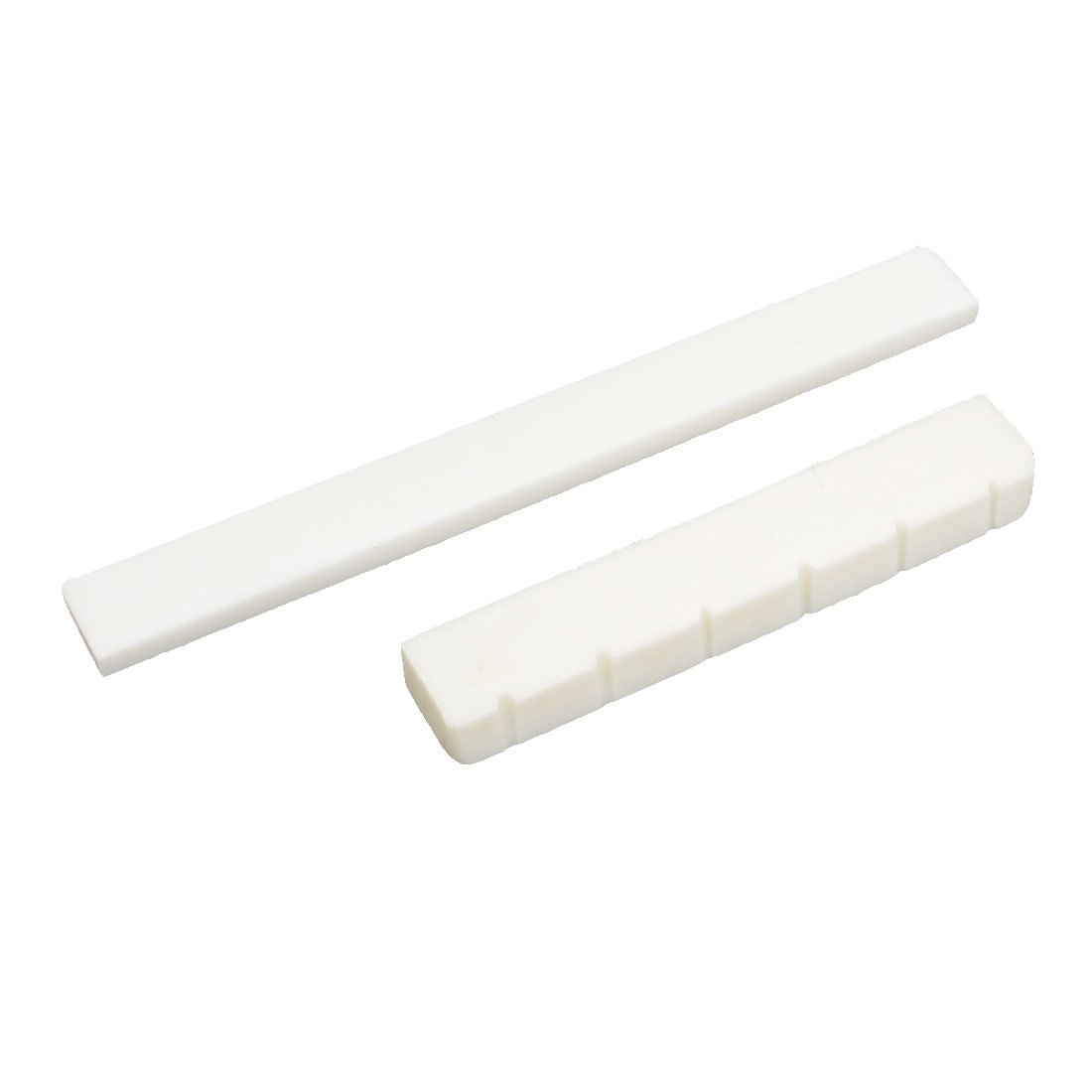 Plastic Folk Guitar Bridge Bone Saddle Nut Set Ivory Color