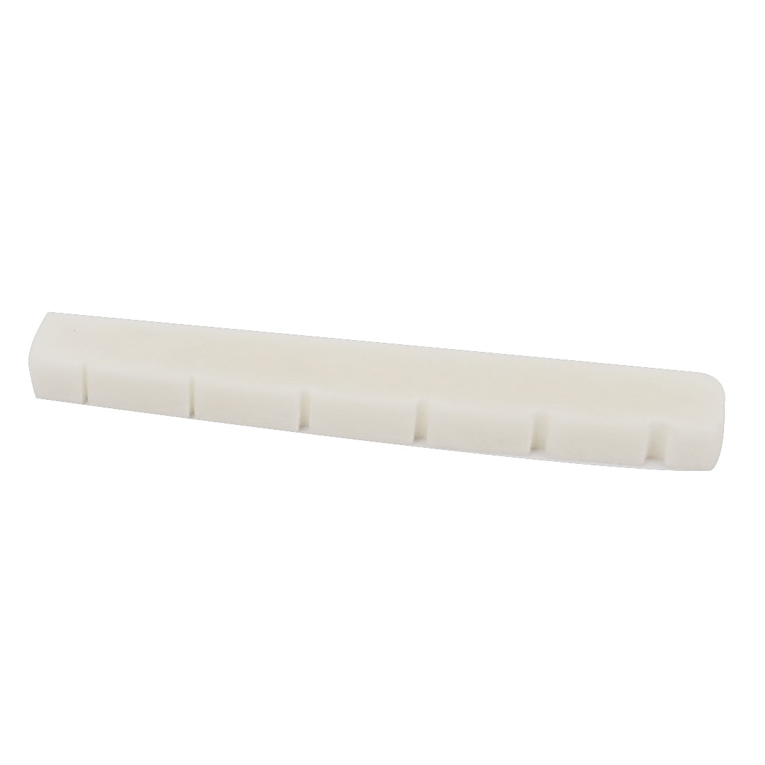 Plastic Acoustic Bass Guitar Parts Fitting String Bridge Bone Nut Ivory Color