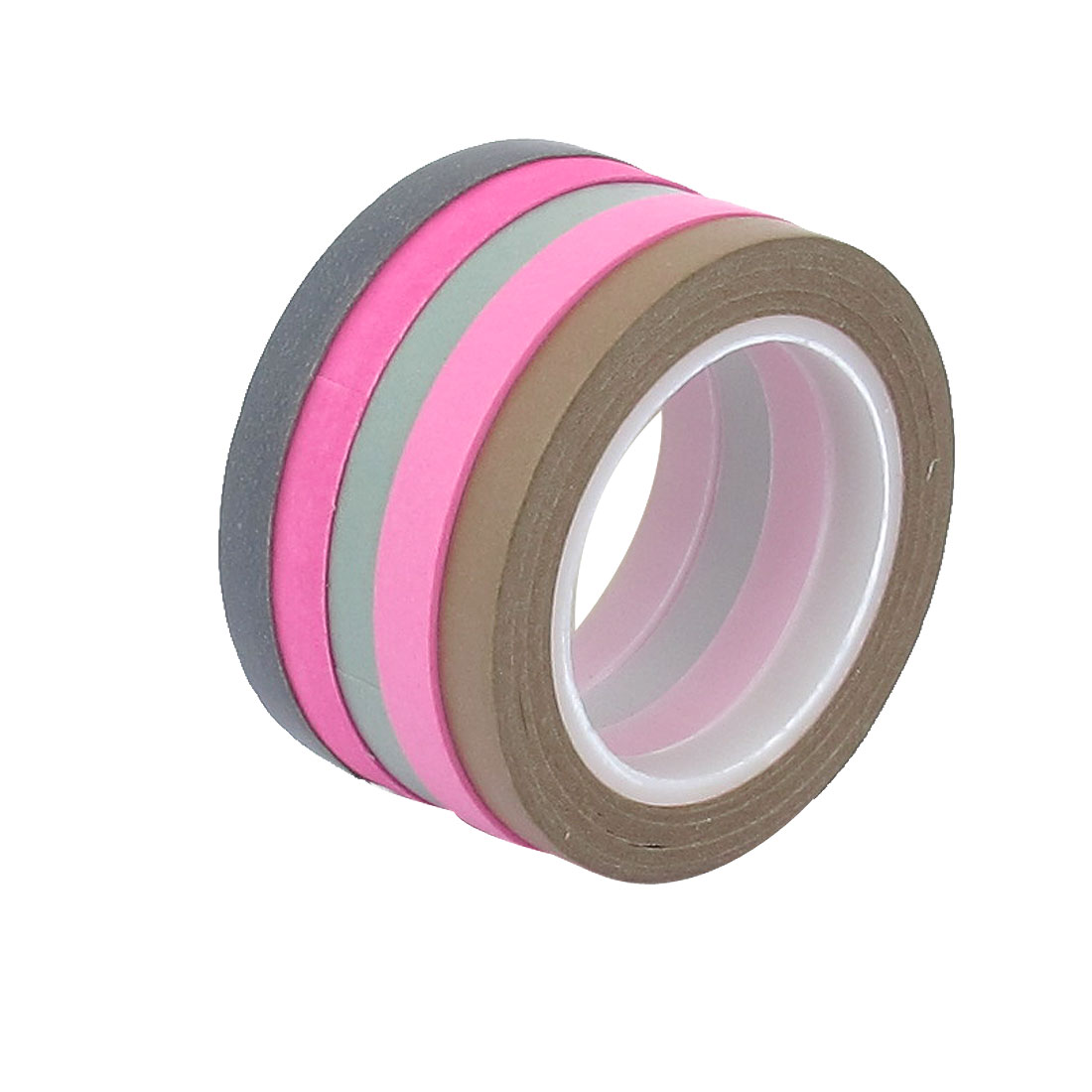 DIY Paper Sticky Adhesive Sticker Decorative Washi Tape Assorted Color 5 PCS