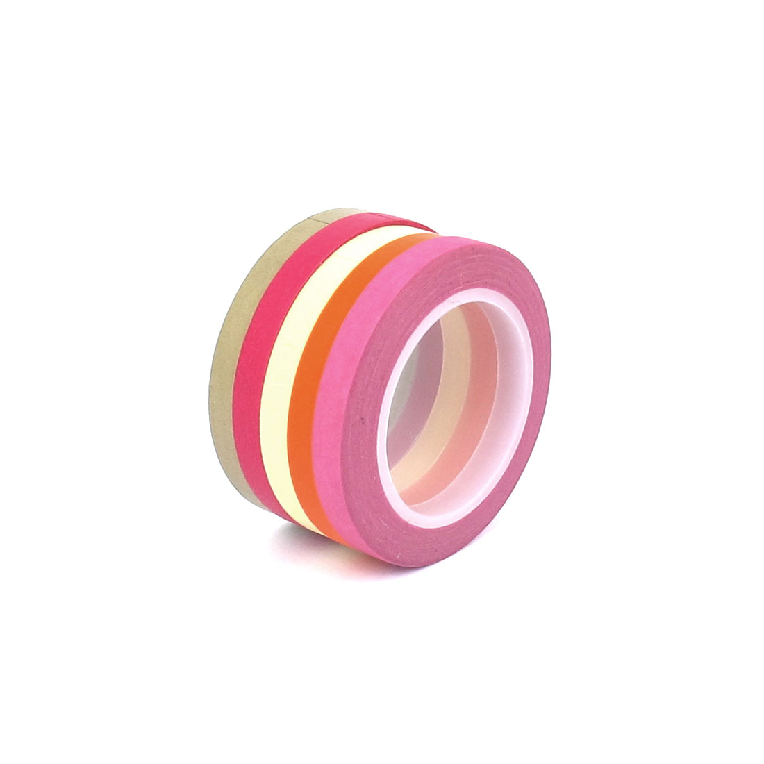 5mm x 10m DIY Paper Sticky Adhesive Sticker Decorative Washi Tape Assorted Color 5 PCS