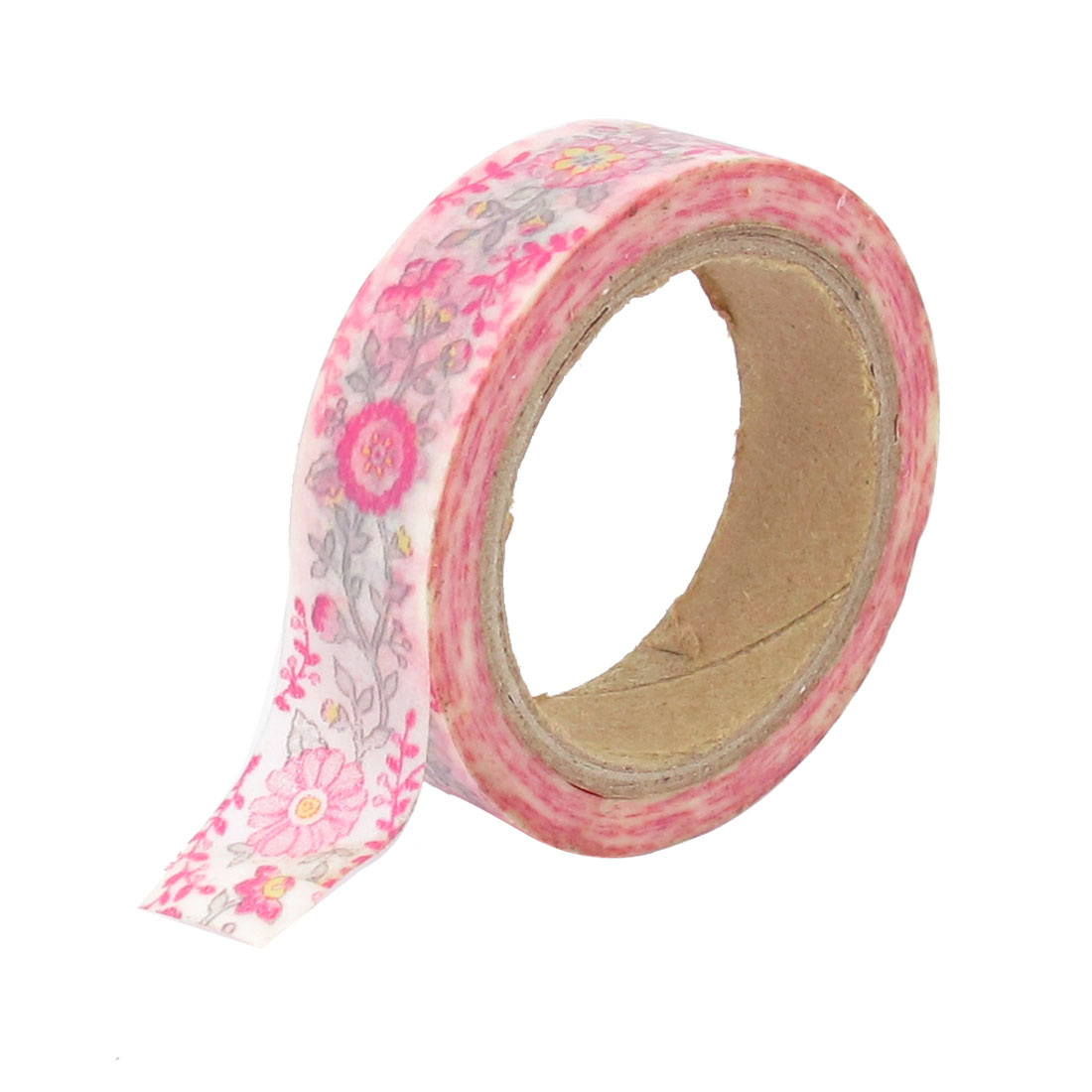 DIY Paper Sticky Adhesive Sticker Flower Pattern Decorative Washi Tape