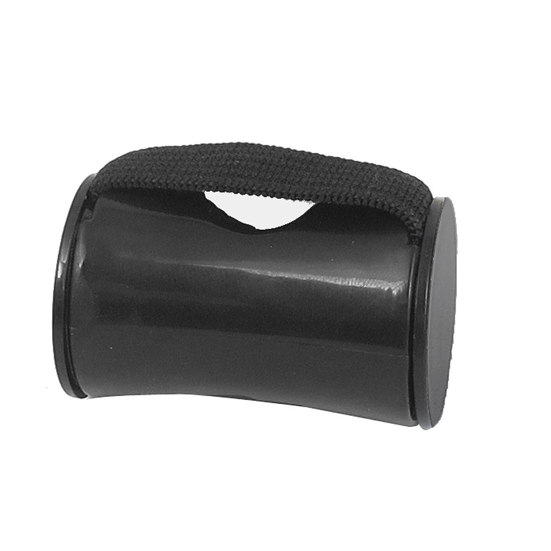Finger Shot Rhythm Elastic Band Ring Percussion Sand Shaker Maracas Ukulele Black