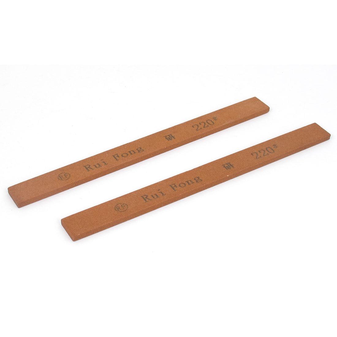 Boride Abrasives Rectangle Polishing Oil Stone Sticks Tool 220 Grit Red 2 Pcs