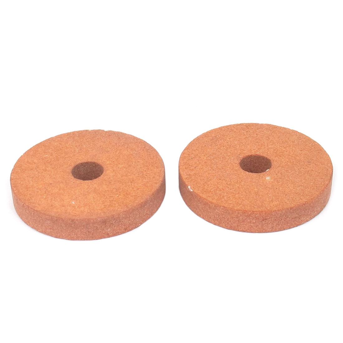 Carborundum Abrasives Round Grinding Wheel Brick Red 50 x 8 x 10mm 2 Pcs