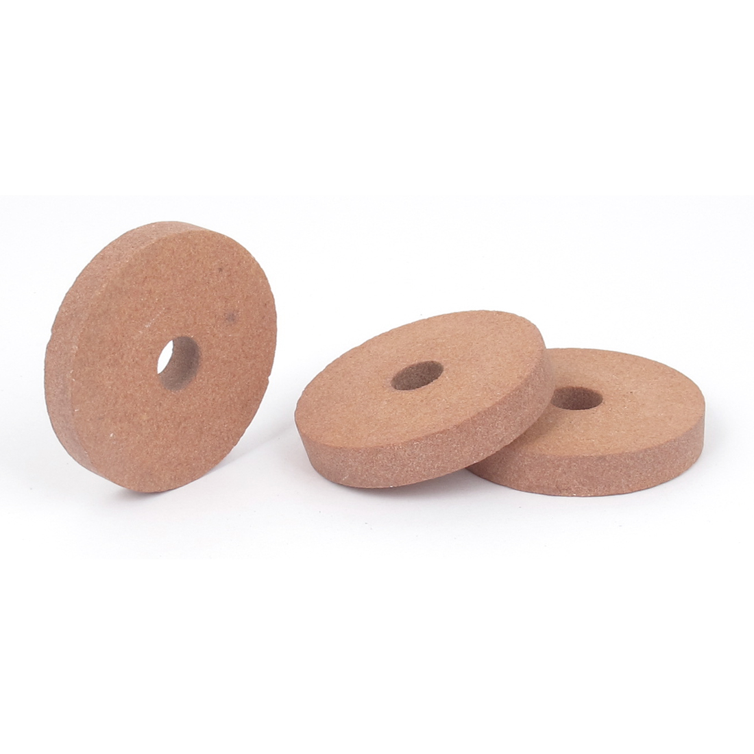 Carborundum Abrasives Round Grinding Wheel Brick Red 50 x 8 x 10mm 3 Pcs