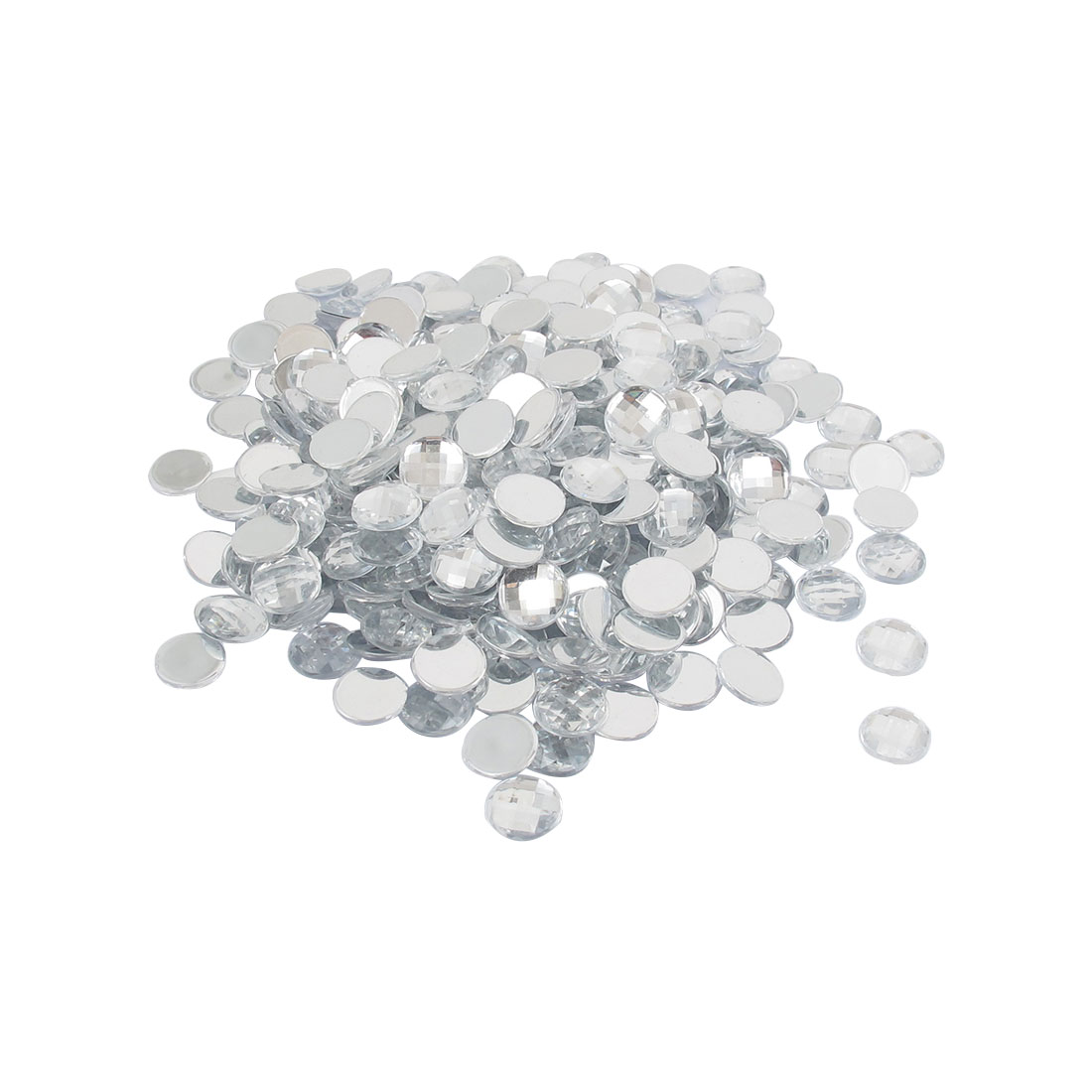 1000 Pcs 12mm Diameter Clear Crystal Round Acrylic Flat Back