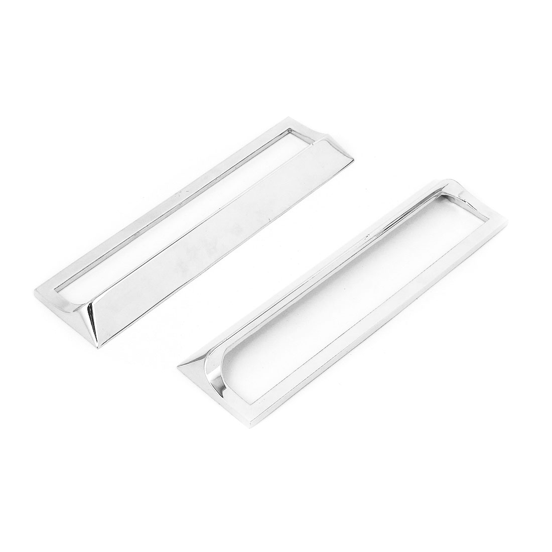 Stainless Steel Door Pull Handles Silver Tone 16.5cm Length 2 Pcs