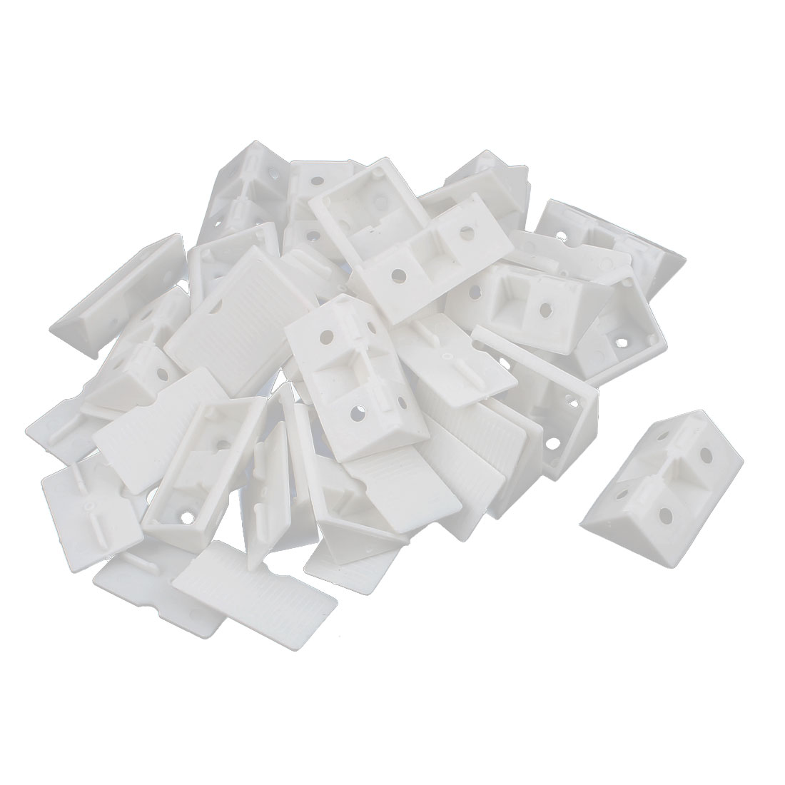 Furniture Assembly Corner Brace 90 Degree Angle Plastic Bracket White 24Pcs
